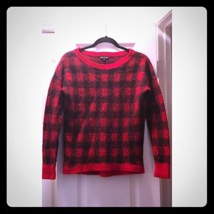 Express Black and Red Women's Small Sweater